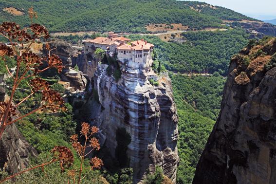 Mosteiro Varlaam visto de cima