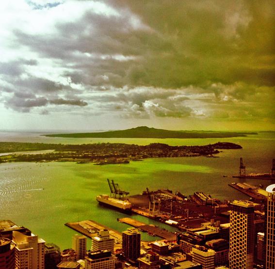 Vista da baía de Auckland