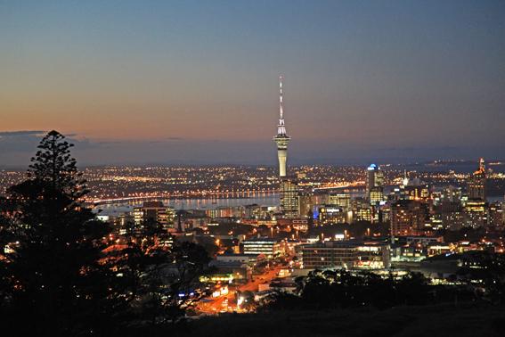 Vista de Auckland do topo do Monte Eden